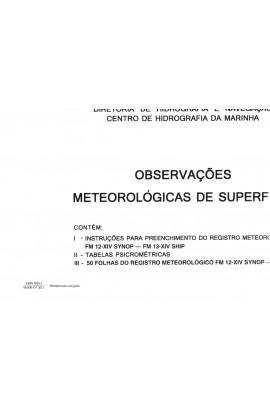 IMPRESSO - OBSERVAÇÕES METEOROLÓGICAS DE SUPERFÍCE