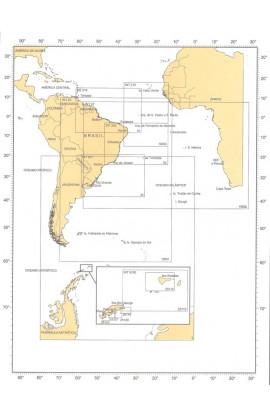 CARTA 10003 -  CARTA DO MUNDO PROJEÇÃO AZIMUTAL EQUIDISTANTE