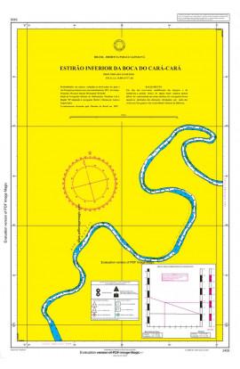 CARTA 3406 - ESTIRÃO INFERIOR DA BOCA DO CARÁ-CARÁ À VOLTA IGUAL INFERIOR