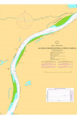 CARTA 4740 - DA ILHA CARAPANATUBA À COSTA CAMUJA