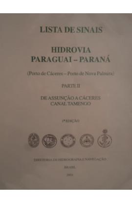 LISTA DE SINAIS - HIDROVIA PARAGUAI - PARANÁ